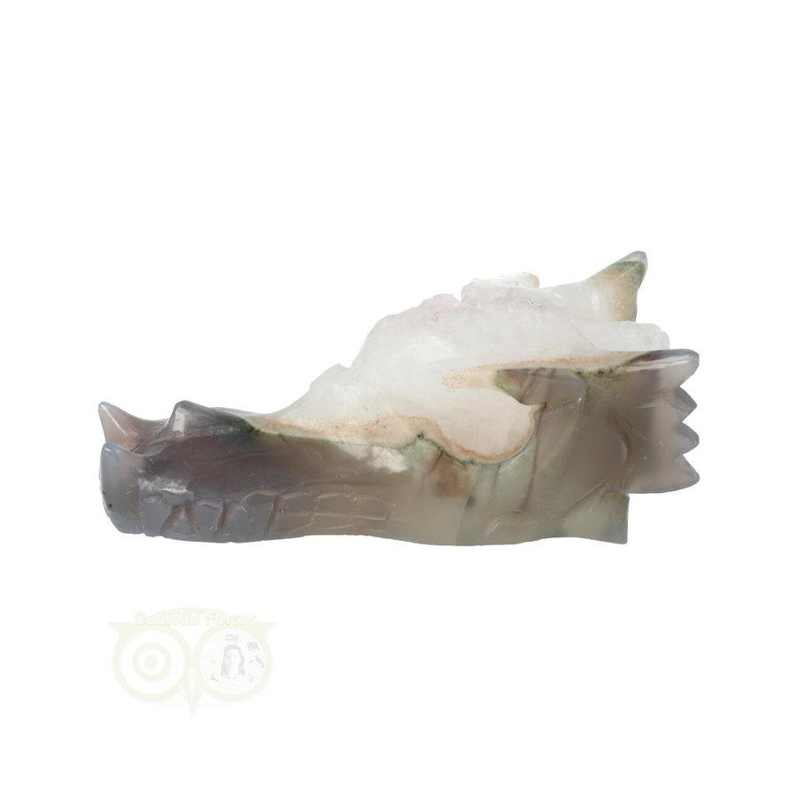 Agaat Geode Drakenschedel 256 gram-6