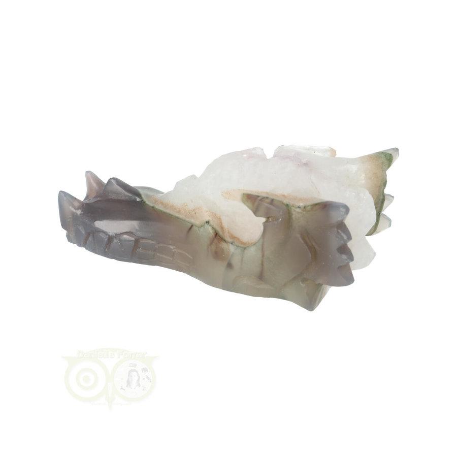 Agaat Geode Drakenschedel 256 gram-7