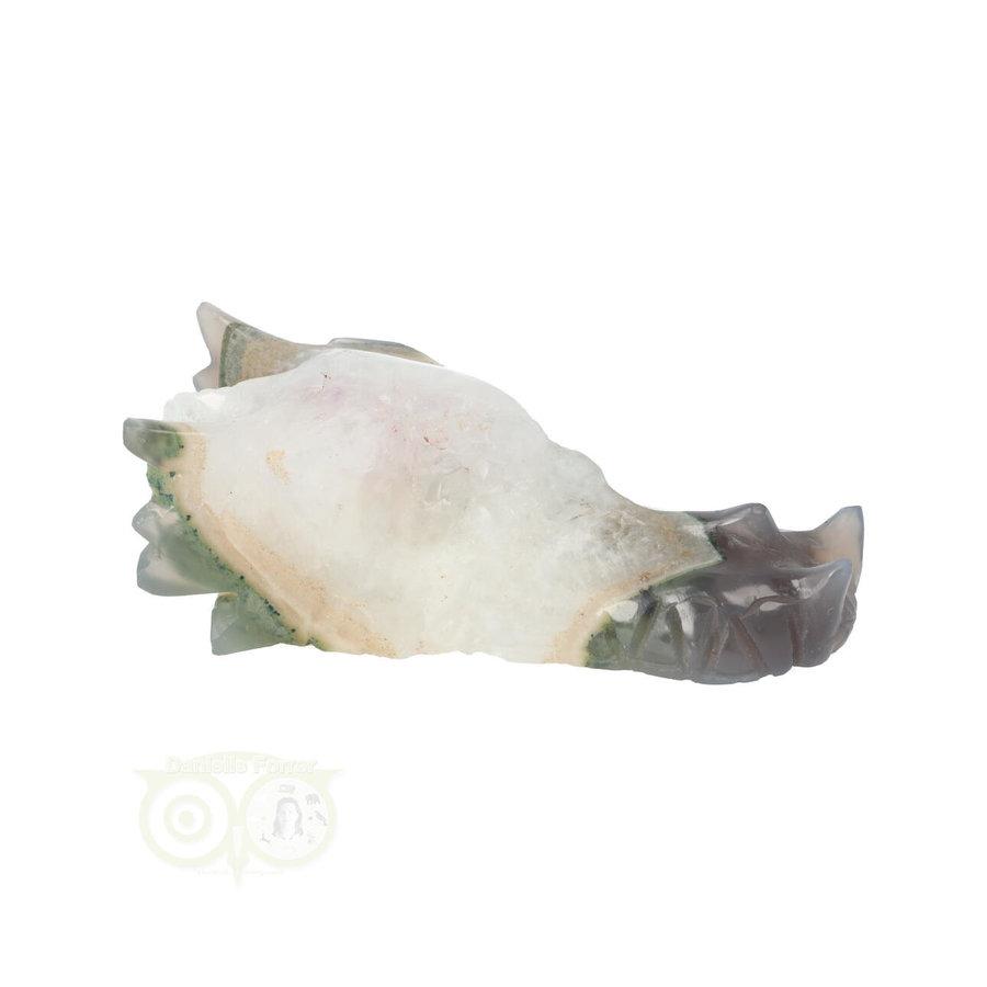 Agaat Geode Drakenschedel 256 gram-9