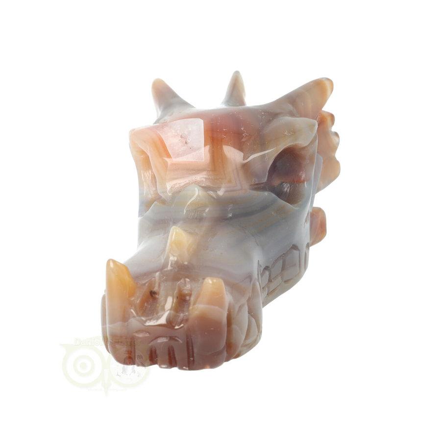 Agaat Drakenschedel 327 gram-6