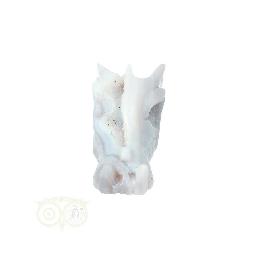 Agaat Geode Drakenschedel 112 gram-4