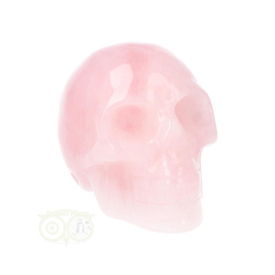 Rozenkwarts kristallen schedel Nr 16 - 92 gram-3