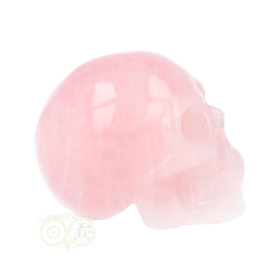 Rozenkwarts kristallen schedel Nr 16 - 92 gram-8