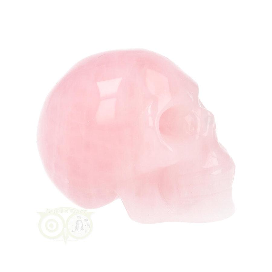 Rozenkwarts kristallen schedel Nr 16 - 92 gram-9