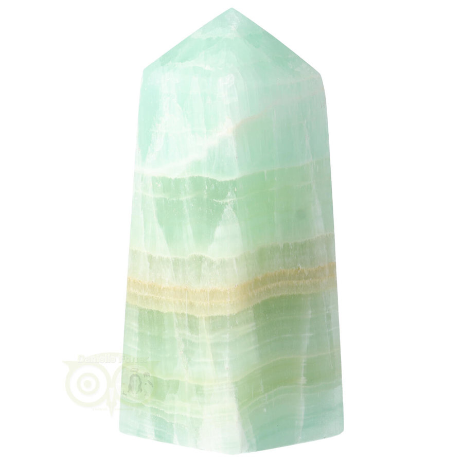 Caribbean Blue Calciet Punt - obelisk Nr 11 -  406 gram-4
