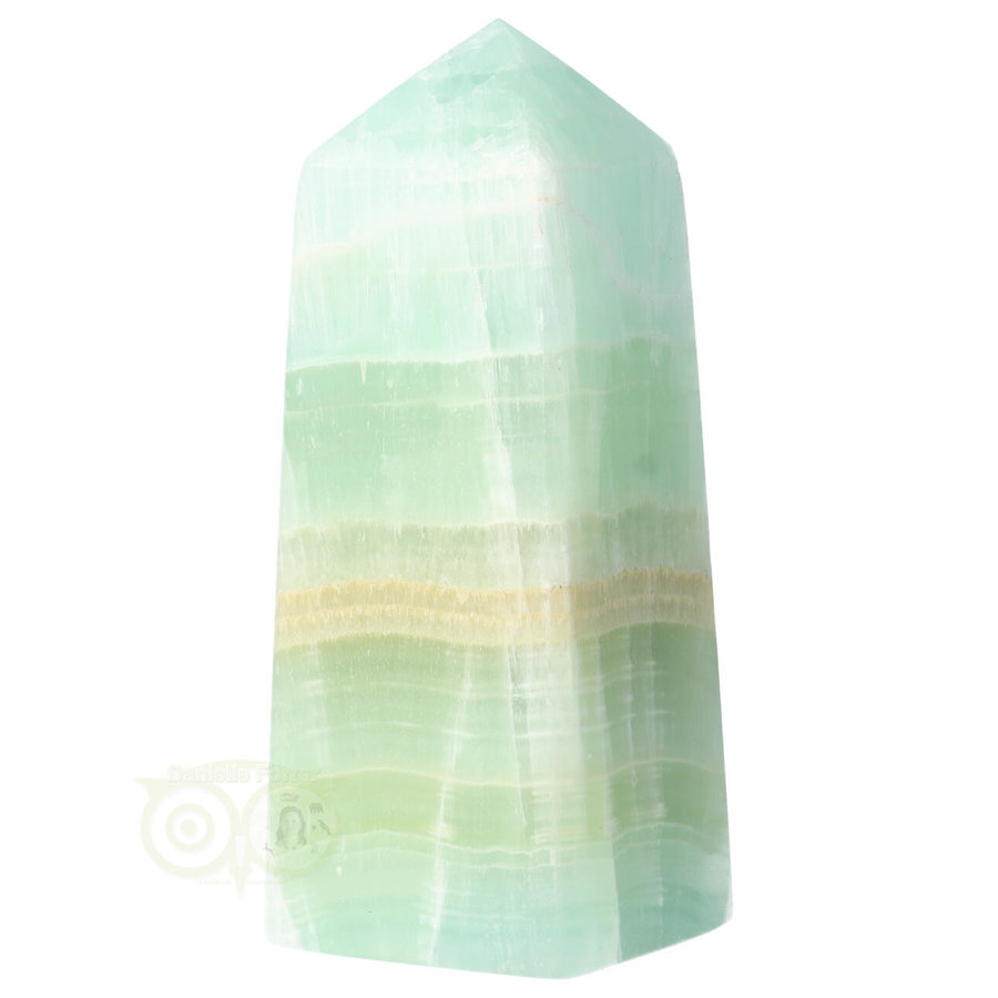 Caribbean Blue Calciet Punt - obelisk Nr 11 -  406 gram-5