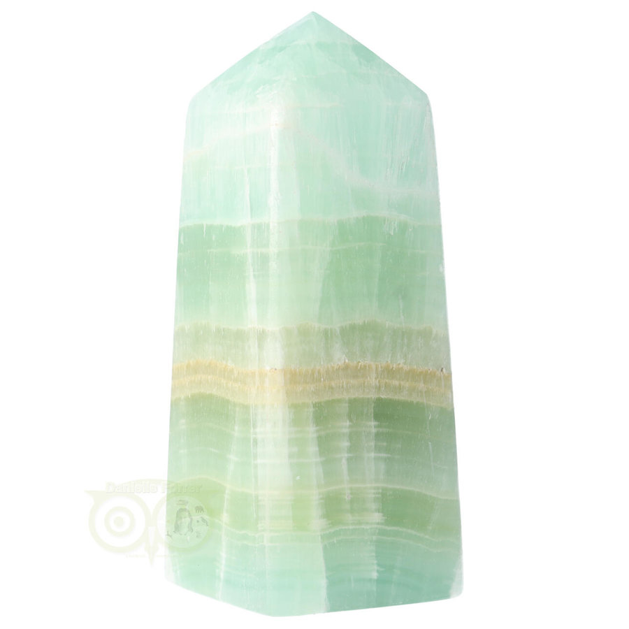 Caribbean Blue Calciet Punt - obelisk Nr 11 -  406 gram-6