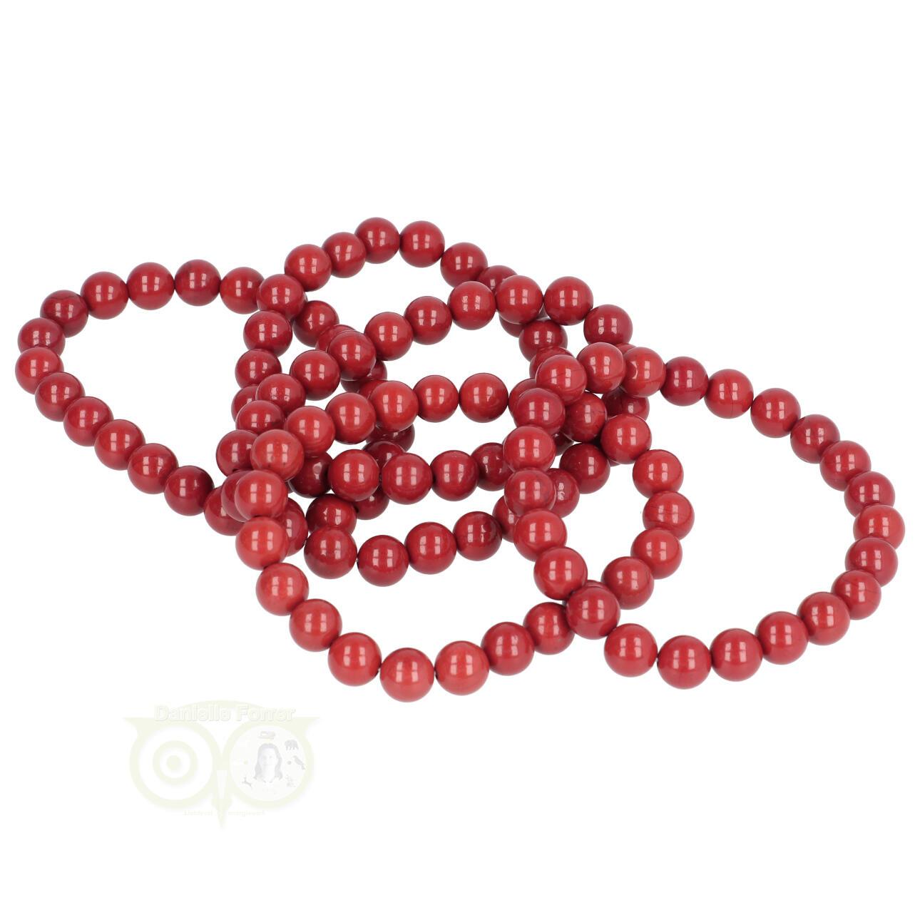 Rode Jaspis kralen armband 8 mm - Edelstenen sieraden kopen