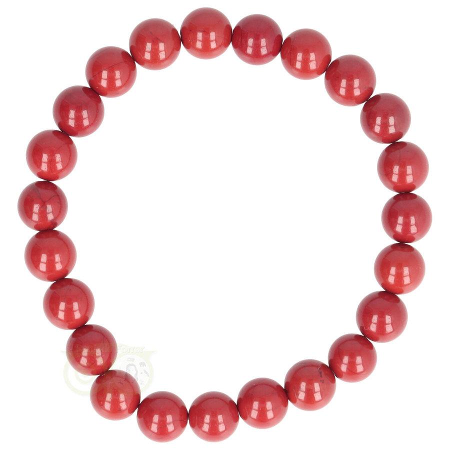 Rode Jaspis armband 8 mm-1