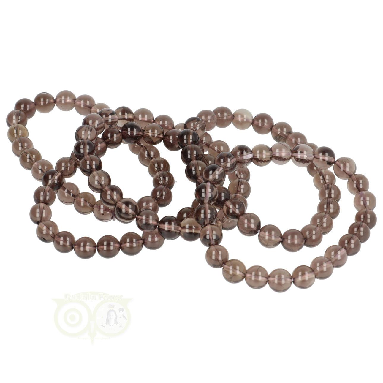 Rookkwarts edelstenen armband 8 mm kopen - Edelstenen sieraden