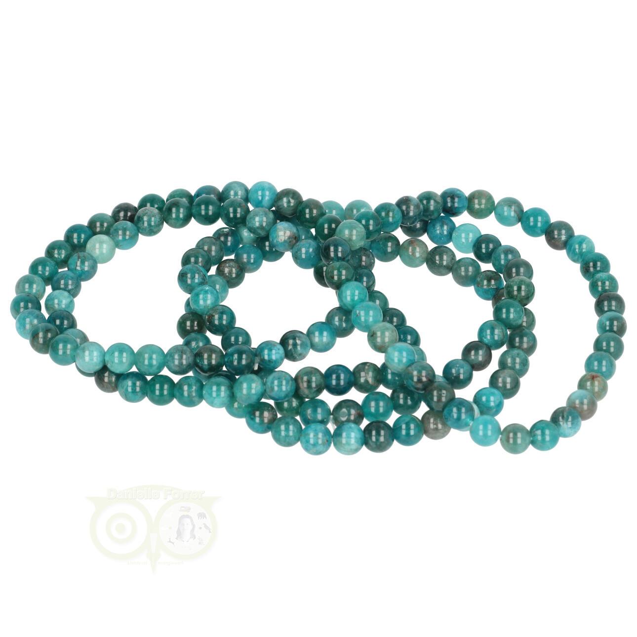 Blauwe apatiet edelstenen armbanden kopen - Edelstenen sieraden apatiet - Edelstenen Webwinkel - Webshop Danielle Forrer