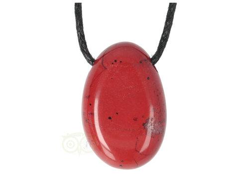 Rode Jaspis hanger Nr 10