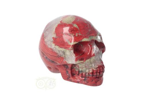 Rode Jaspis schedel Nr 6