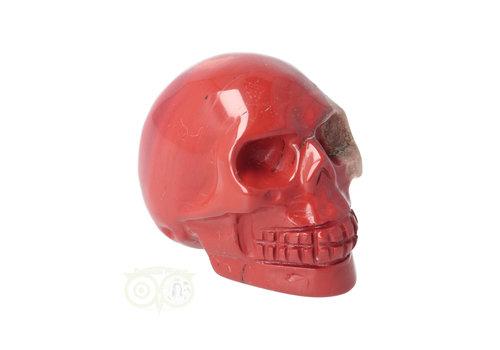 Rode Jaspis schedel Nr 8