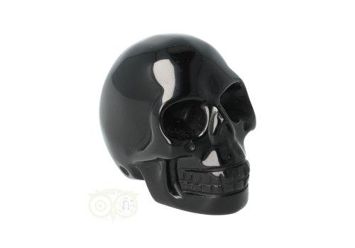 Zwarte Obsidiaan schedel Nr 9