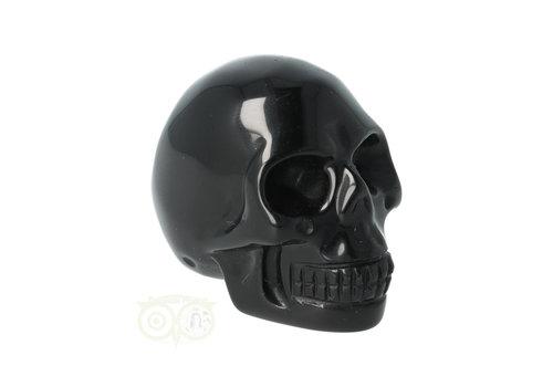 Zwarte Obsidiaan schedel Nr 10