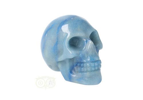 Blauwe kwarts schedel Nr 11