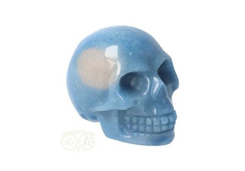 Blauwe kwarts schedel Nr 14