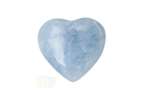 Blauwe Calciet hart ± 3 cm Nr 26