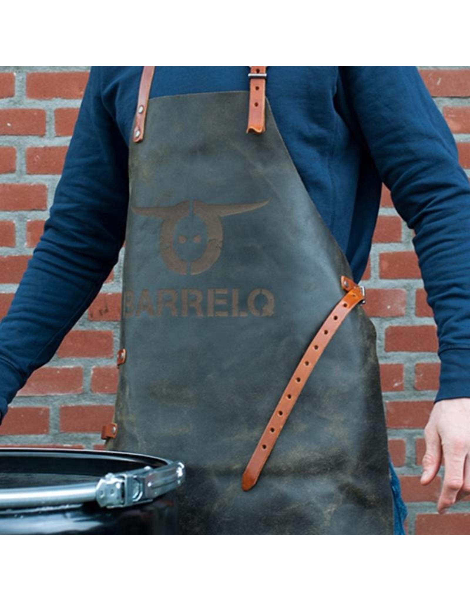 BarrelQ BarrelQ leren barbecueschort leder