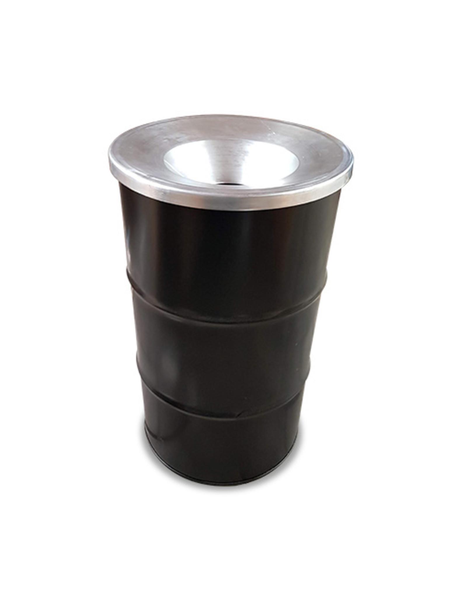 The Binbin BinBin vlamwerend deksel met gat voor 120 Liter olievat