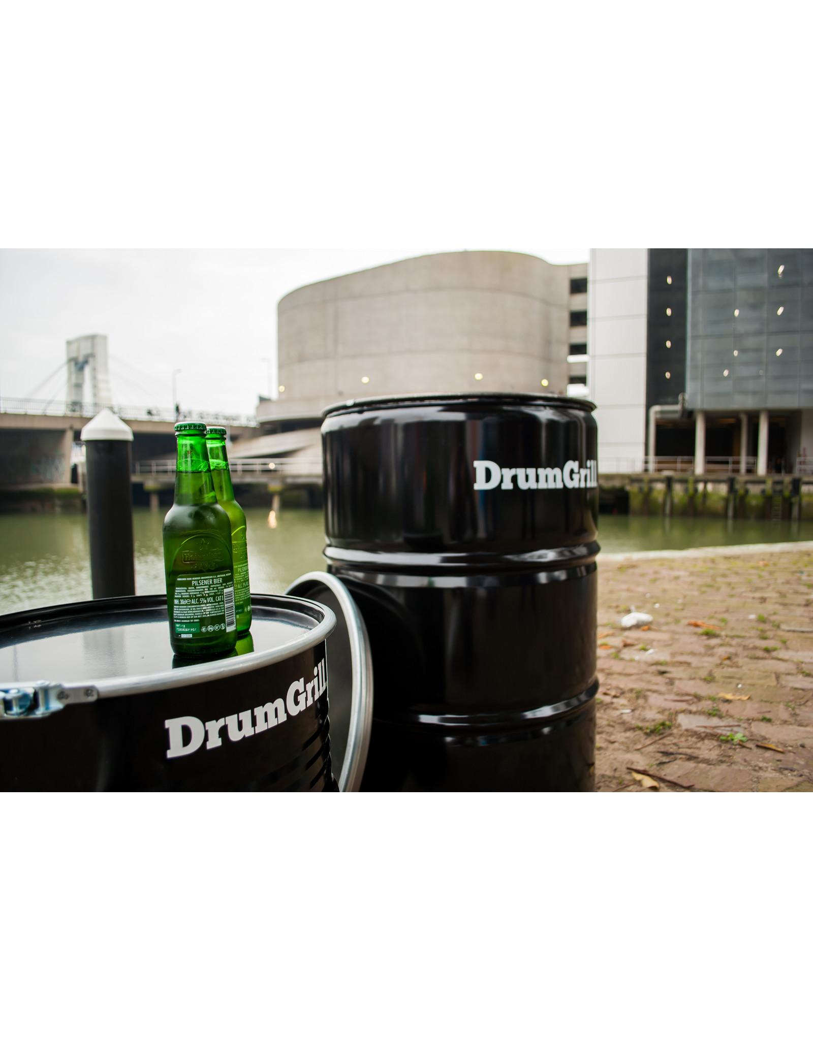 Drumgrill Drumgrill Big 200 Liter Holzkohlegrill, Feuerstelle, und Tischplatte