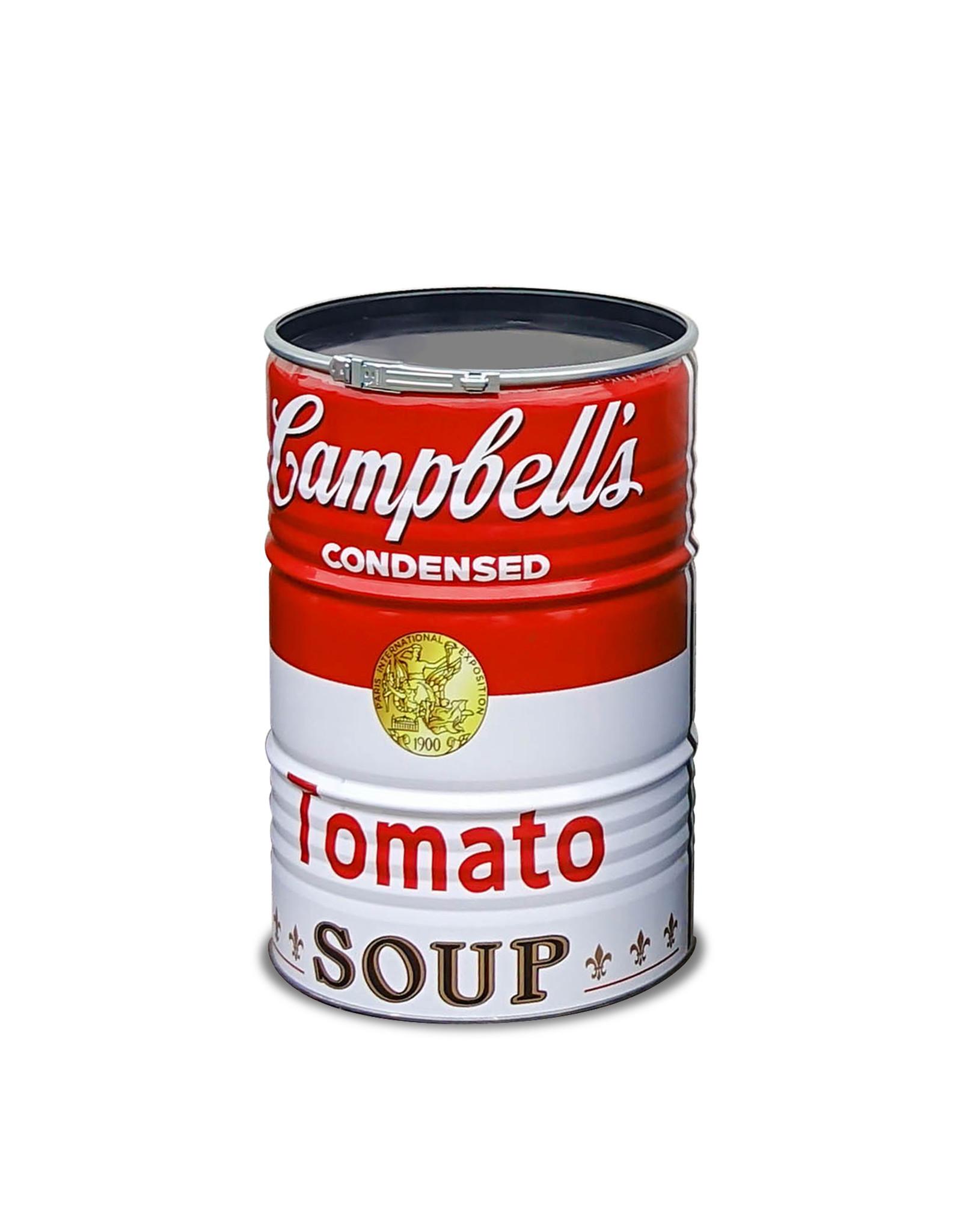 Barrelkings Barrelkings  200 Liter olievat met Campbell's Soup print