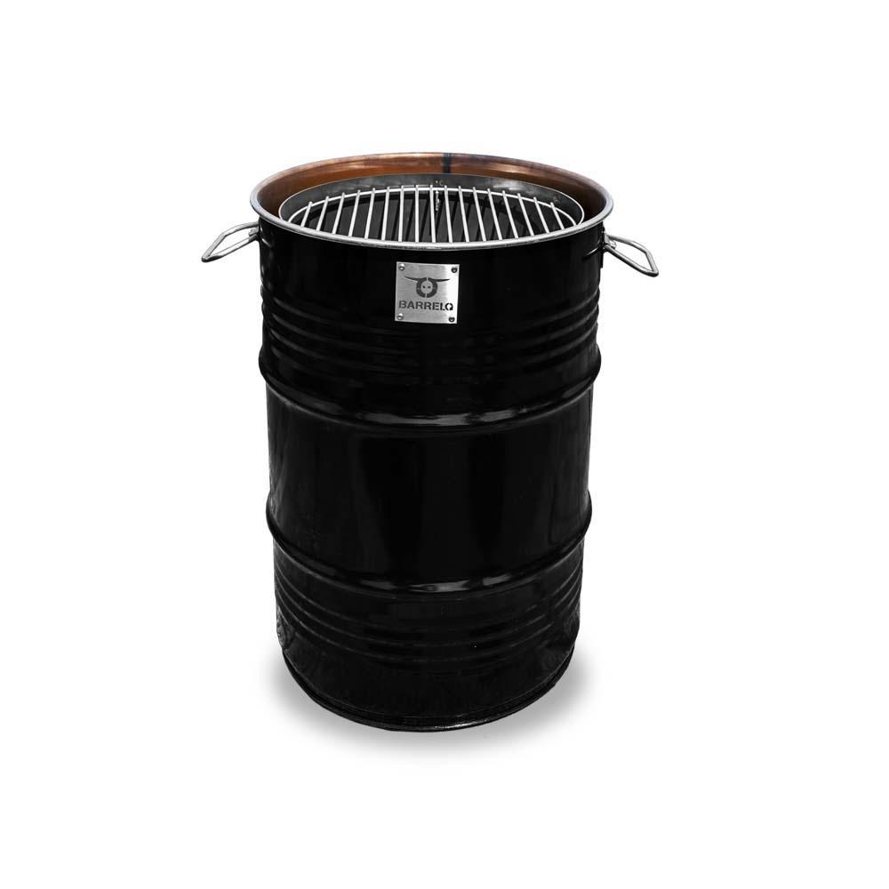 BarrelQ BarrelQ Small zwart 60 Liter Barbecue, vuurkorf en statafel in n