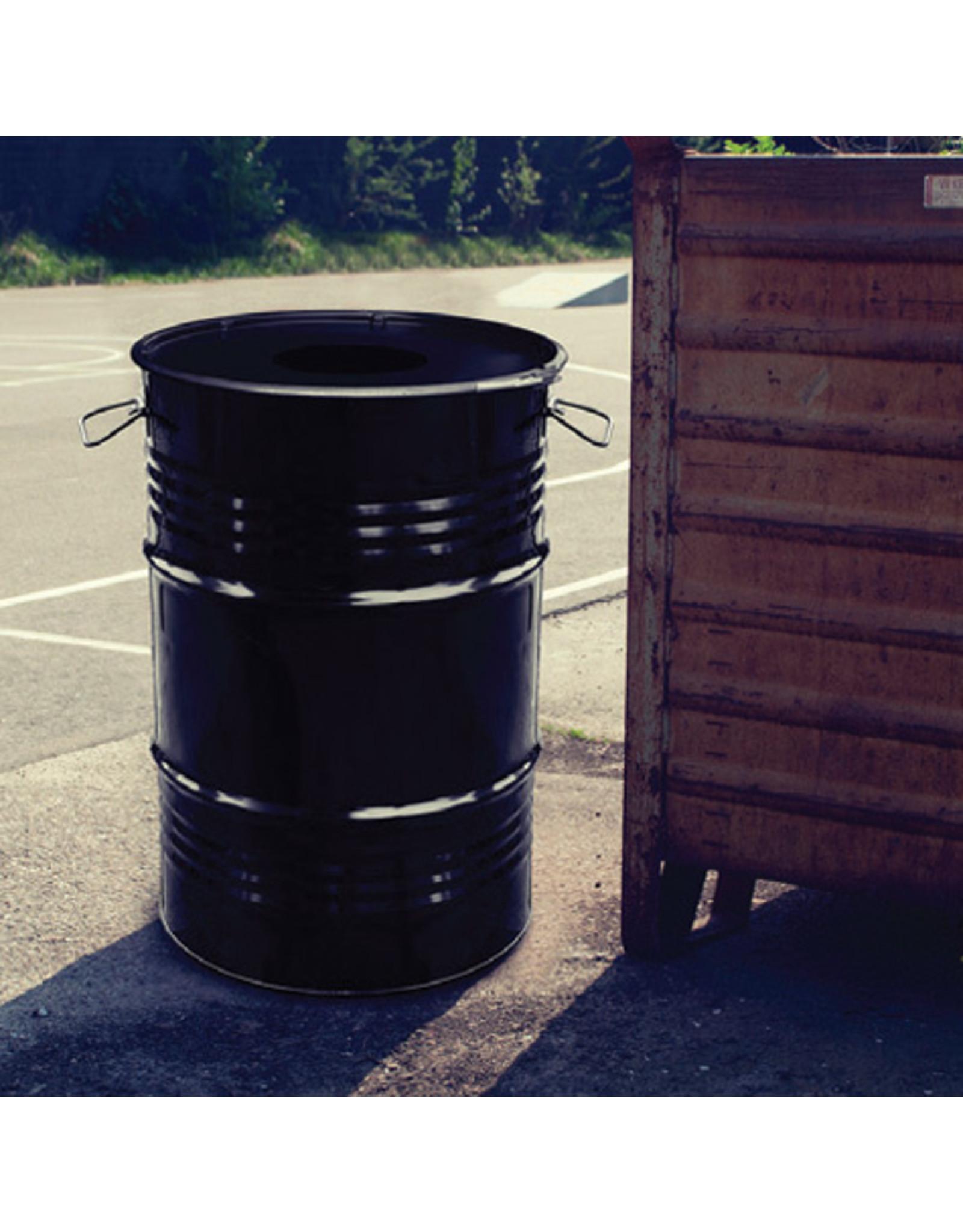 The Binbin BinBin Hole 60 Liter industriell metall Mülleimer mit loch deckel