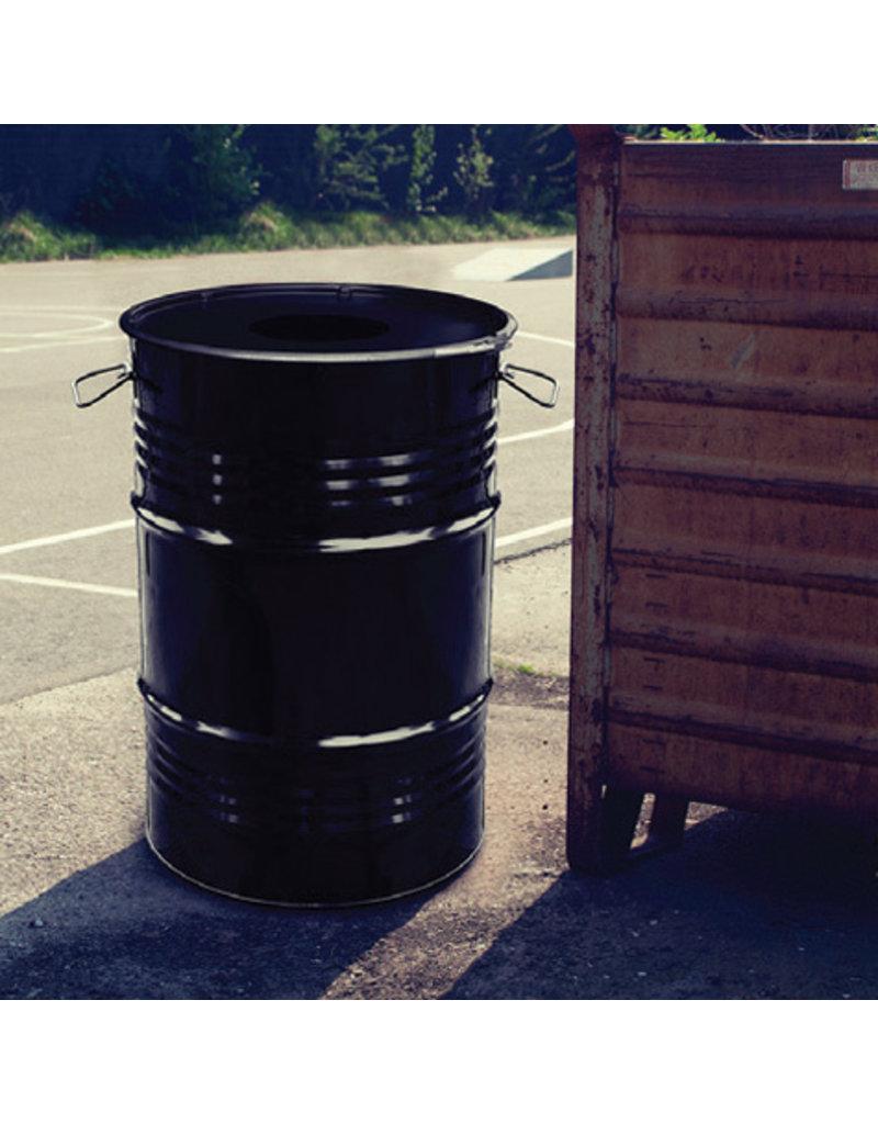 BinBin BinBin Industriële prullenbak zwart 60 Liter met gat in deksel
