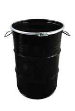 BinBin BinBin Hole industriële Prullenbak Zwart 60 Liter olievat met gat in deksel