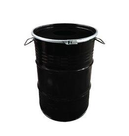 The Binbin BinBin Hole industriële prullenbak 60 Liter zwart met gat deksel