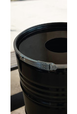 BinBin BinBin Industriële prullenbak zwart 200 Liter met gat in deksel