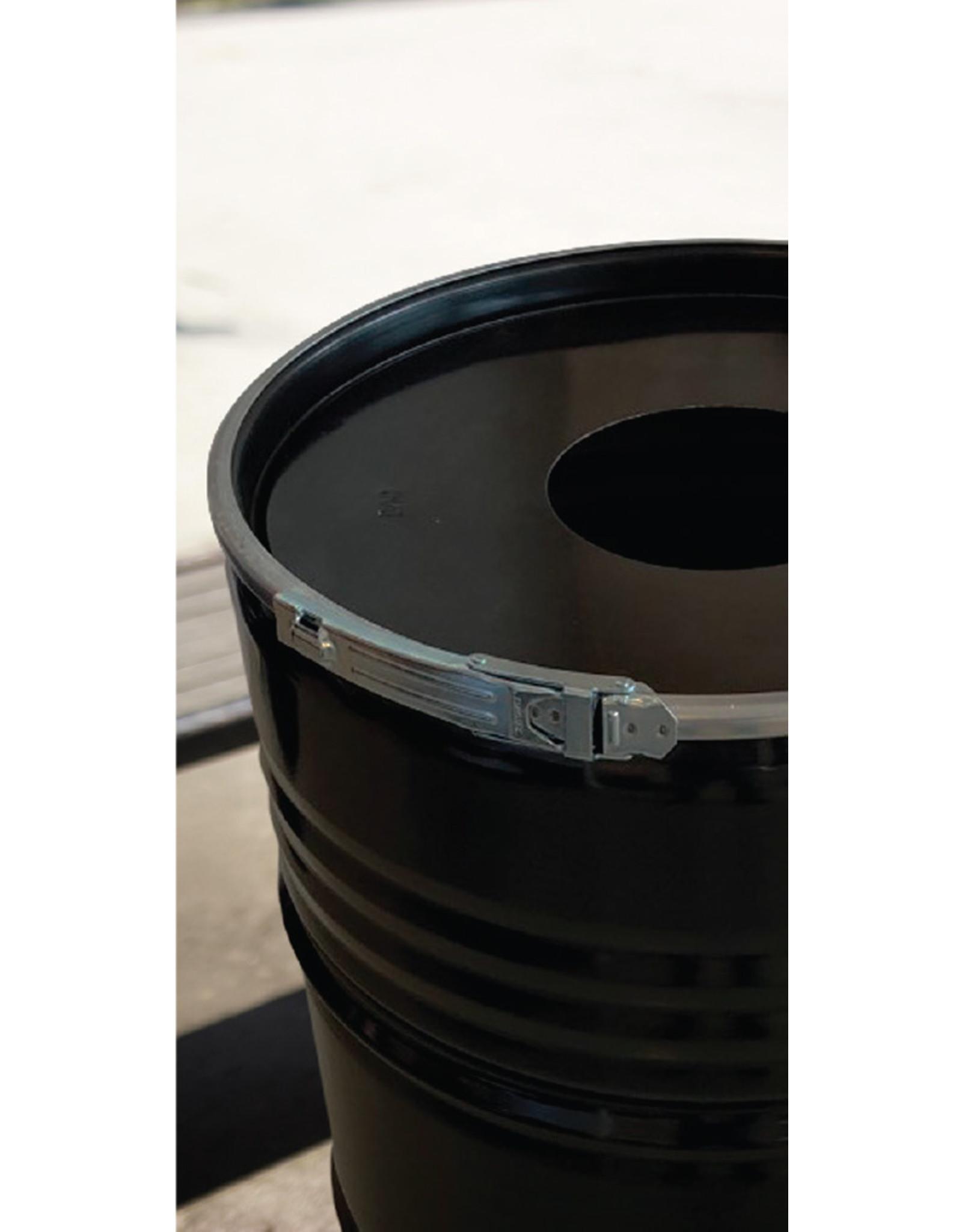 The Binbin BinBin Hole Industriële prullenbak zwart 200 Liter met gat in deksel