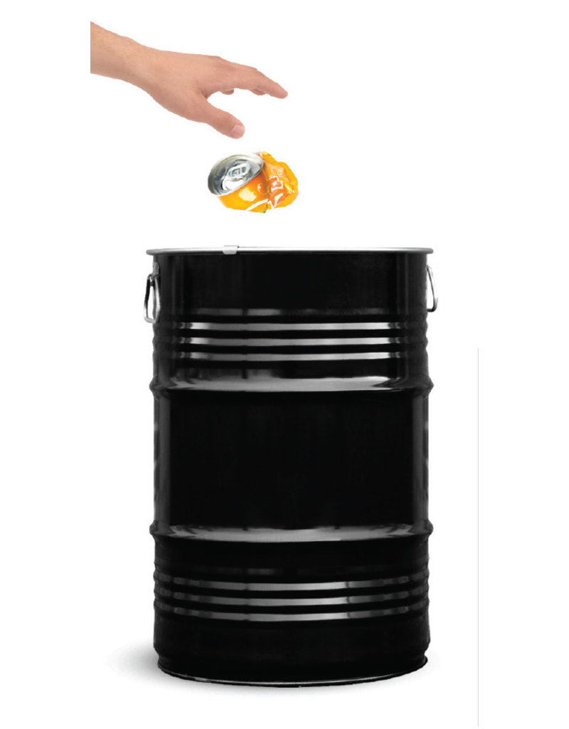 BinBin Mülleimer BinBin 60 L Schwarz