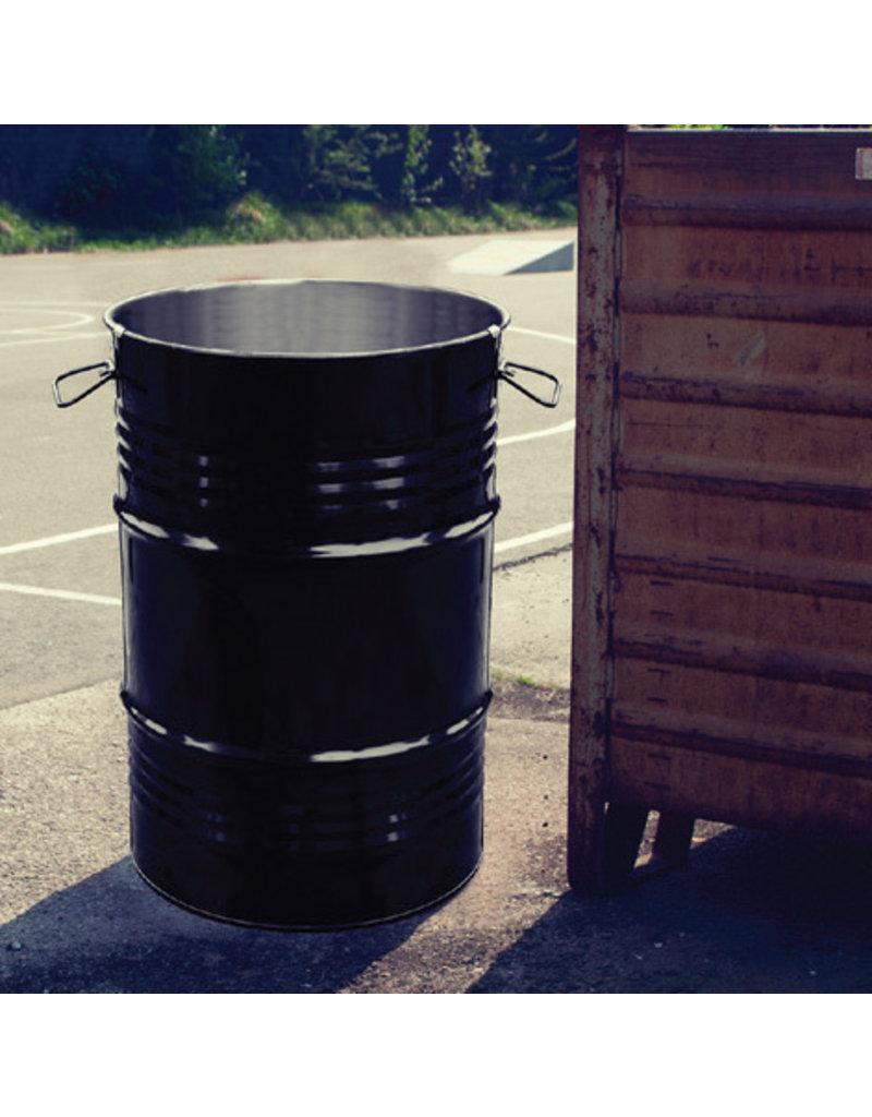 BinBin BinBin Industriële prullenbak zwart 60 Liter olievat