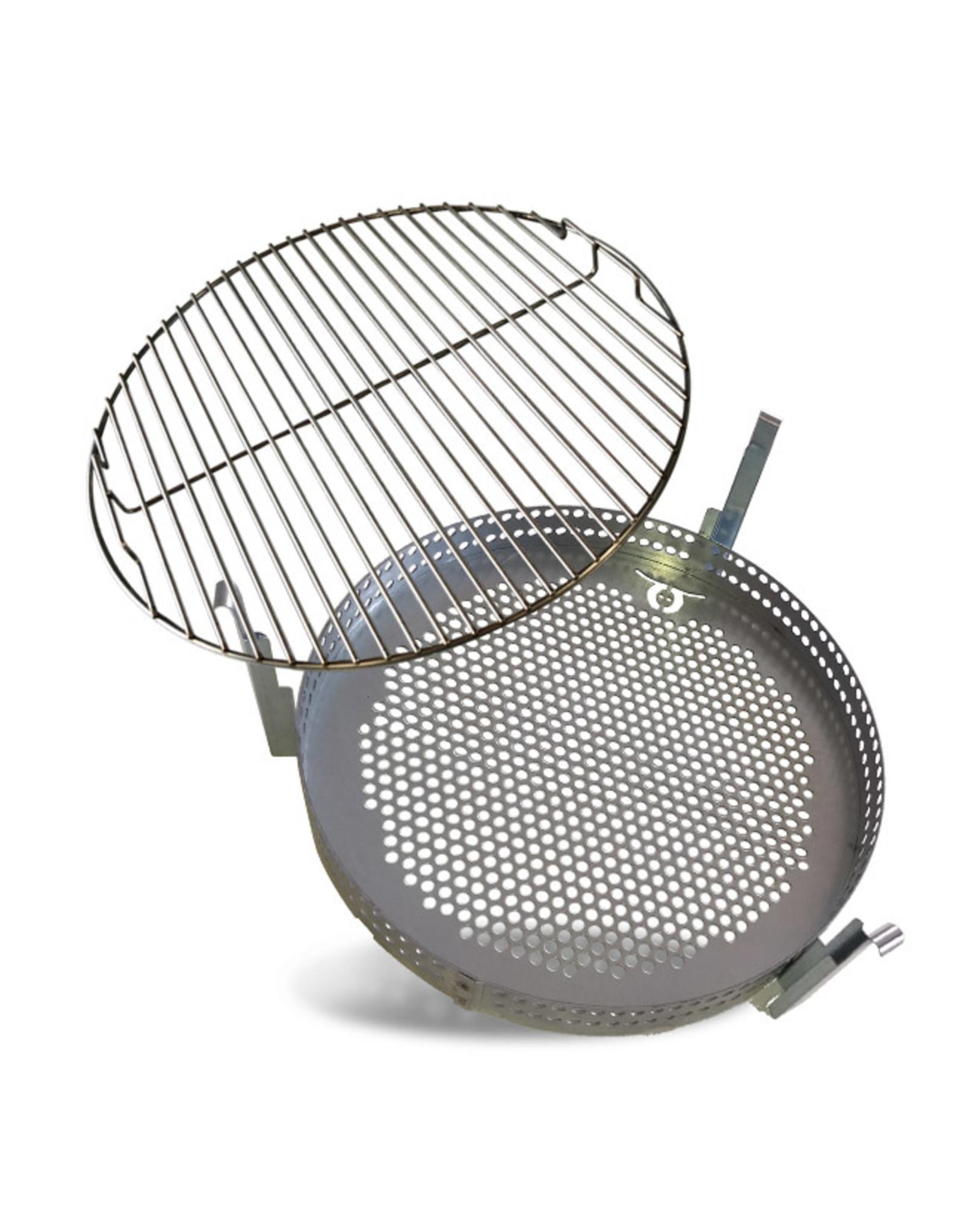 BarrelQ Grillkorb und Grillrost 200 Liter Ölfass (nicht verengte Fassöffnung)