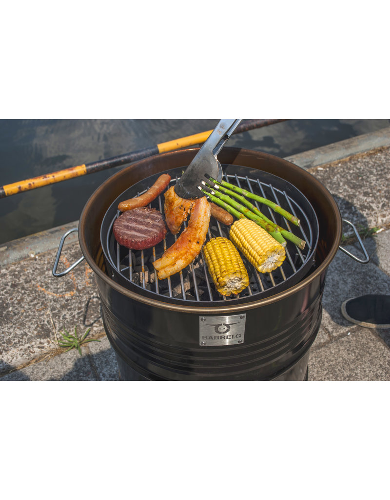 BarrelQ BarrelQSmall Notorius black 60 Liter Barbecue, firepit and table in one