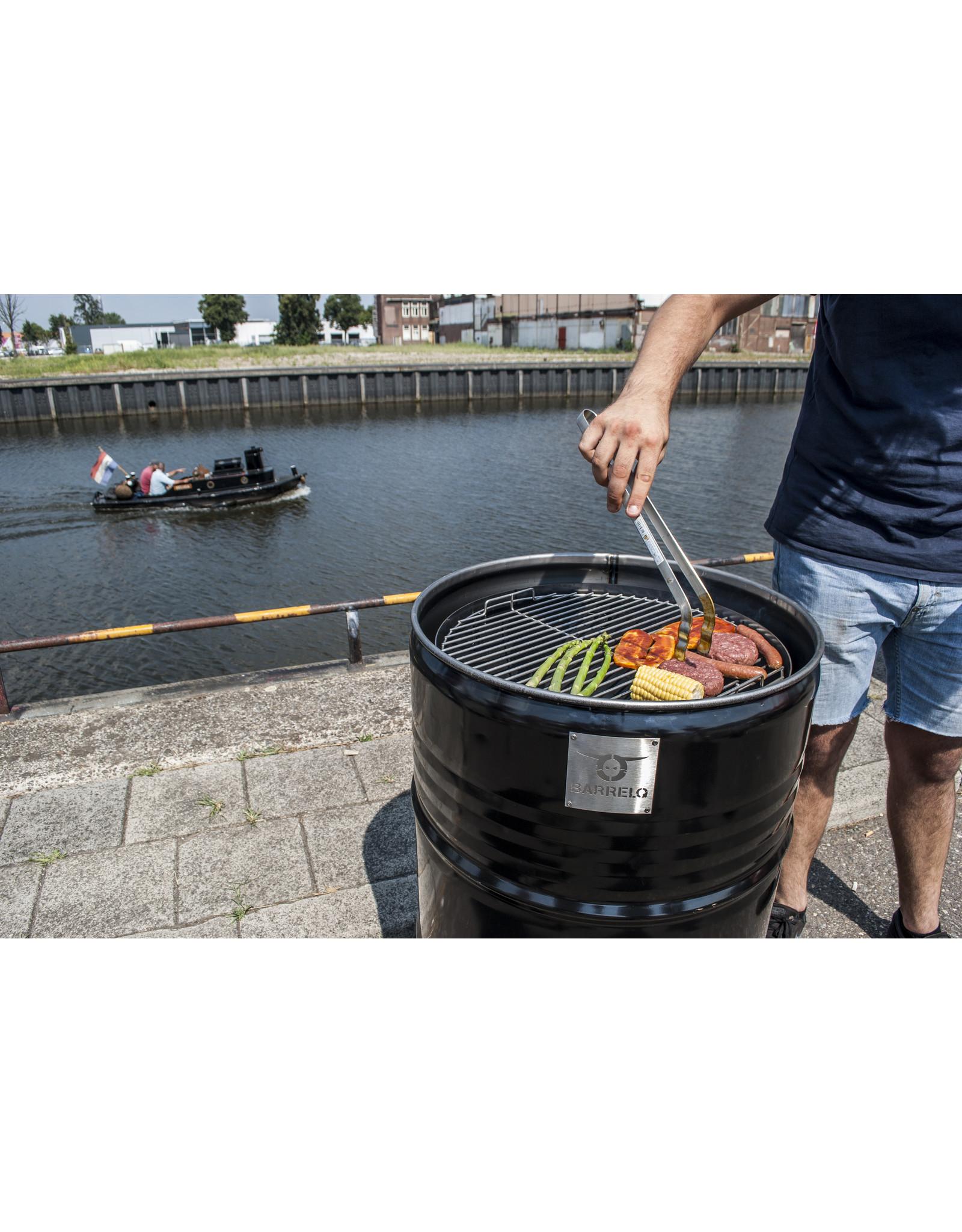 BarrelQ Der BarrelQ Notorious Big 200 Liter Holzkohlegrill, Feuerstelle, und Tischplatte