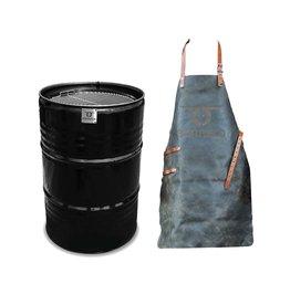 BarrelQ BarrelQ Big Original barbecue + leren schort