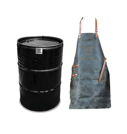 BarrelQ BarrelQ Grill Big Original plus leather apron