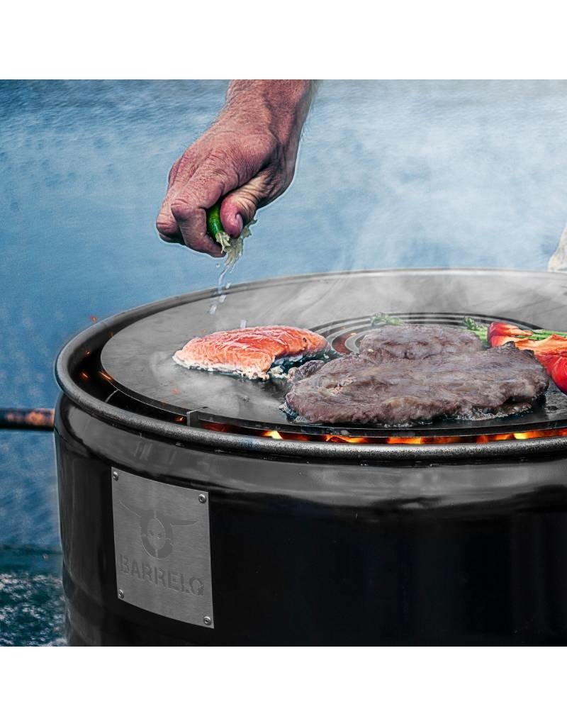 CombiDeal BarrelQ Notorious Big barebecue Cortensteel 200 L with Teppanyaki plate