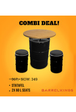 Barrelkings CombiDeal Stehtisch und zwei 60 l Sitze