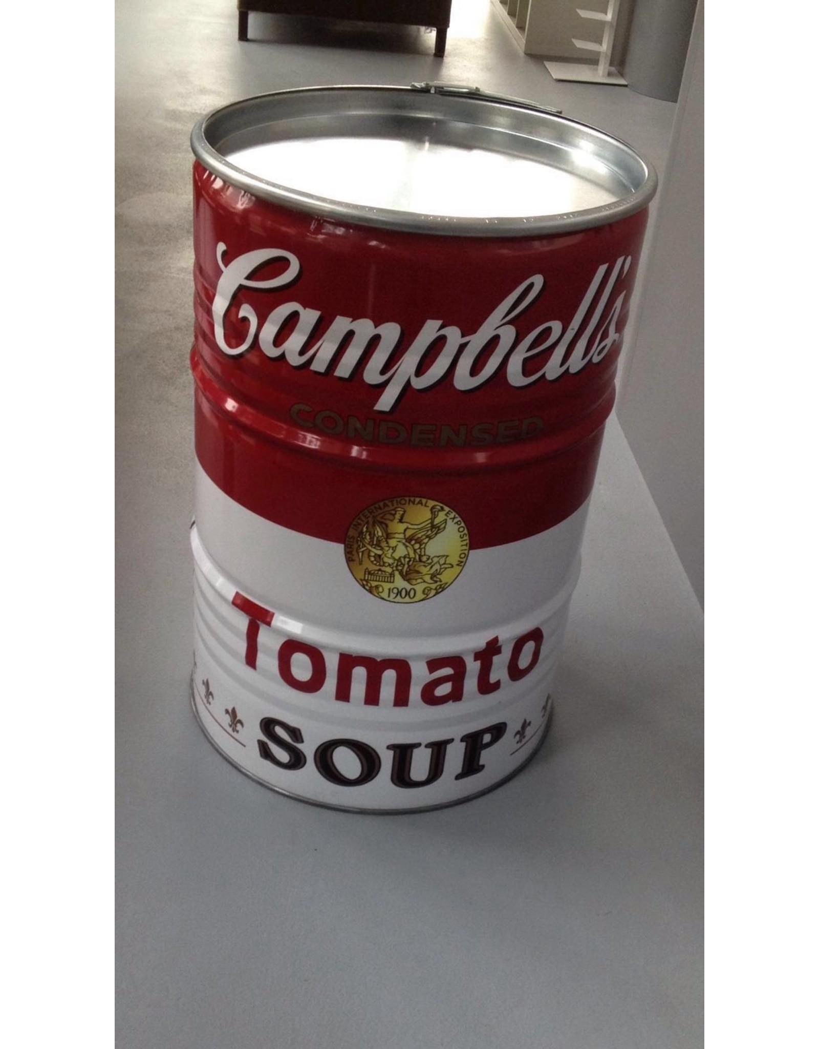 Barrelkings  200 Liter olievat met Campbell's Soup print