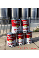 Barrelkings Barbecue- Vuurkorf- statafel Campbell's Soup design olievat 200 Liter