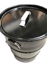 The Binbin BinBin Handle rubbish bin, 60L Black with handle lid