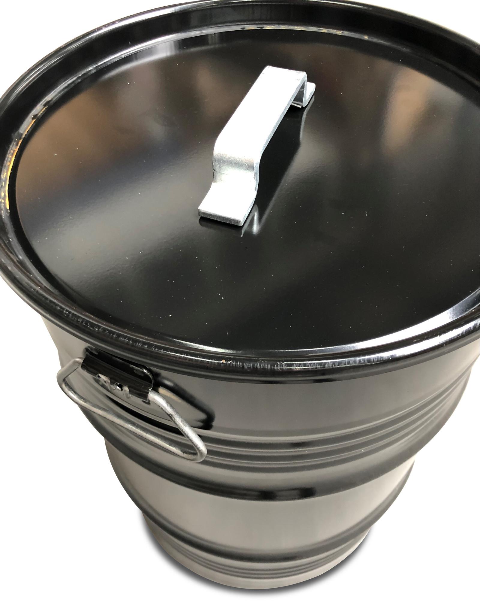 BinBin BinBin Handle industriële prullenbak zwart 60 Liter olievat met handvat deksel