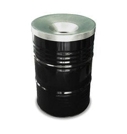 Barrelkings BinBin industrial rubbish bin black, 200L with flame-retardant lid