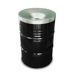 The Binbin BinBin Flame industrial rubbish bin 200 Liter with flame-retardant lid