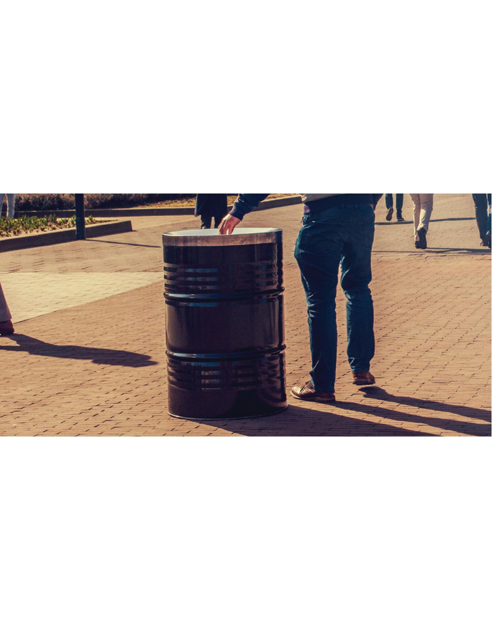 Barrelkings  BinBin industrial rubbish bin black, 200L with flame-retardant lid